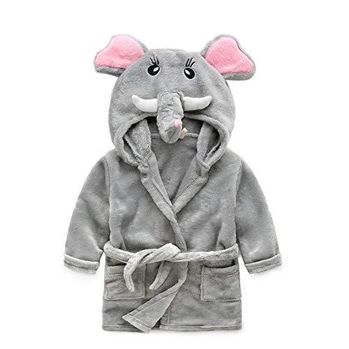 DWZX Mit Kapuze Kinderbademäntel Baby Robe Mit Kapuze Flanell Pyjama Kleid Bademäntel Kinder Weiche Bademäntel Poncho Handtuch Kleidung