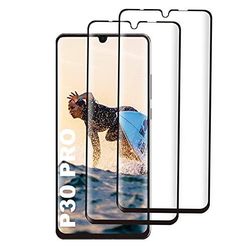 Panzerglas Schutzfolie für Huawei P30 Pro, [2 Stück] [9H Härtegrad] [Keine Blasen] [Ultra-klar] [Anti-Kratzen] [Sensitive Touch], Gehärtetem Glas Displayschutzfolie für Huawei P30 Pro