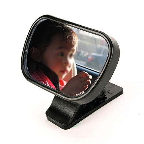 Belleashy Baby-Auto-Spiegel Baby-Sicherheits-Autospiegel Adjustable Shatter Proof Baby Blick Autospiegel mit Saugwirkung entsteht Cup 80x50mm (Color : Black, Size : 80x50mm)