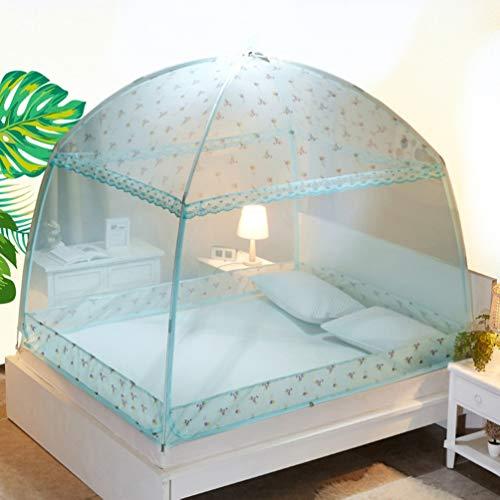 WOLJW Muggennet, Outdoor Yurt Gratis Installatie Tweepersoonsbed Volwassen Draagbare Dubbele Deur Tent Thuis Buiten (220L X 180W X170H)