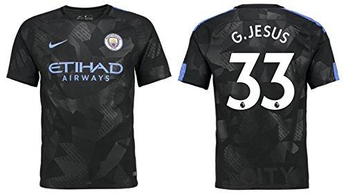 Trikot Herren Manchester City 2017-2018 Third - G.Jesus 33 (XL)
