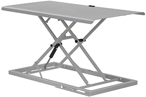 MWXFYWW Lifting Folding Standing Desk,Sit to Stand Table Easy Carry Ultra Slim Workstation Ultra Slim for Computer Laptop Height Adjustable Desktop Computer Riser -Gray