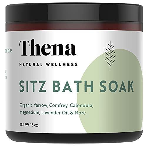 Best Organic Sitz Bath Soak For Postpartum New Mom Essentials & Natural Hemorrhoid Treatment, 100% Natural & Gentle With Pure Epsom & Dead Sea Salts Witch Hazel Lavender Essential Oil