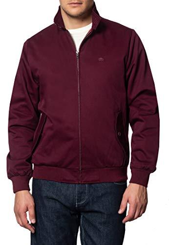Merc of London Herren Blouson Jacke HARRINGTON,Jacket, Rot (Weinrot), XXX-Large (Herstellergröße: XXXL)