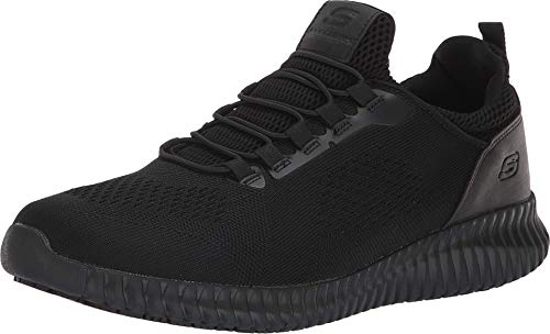 Skechers mens Cessnock Food Service Shoe, Black, 10 Wide US