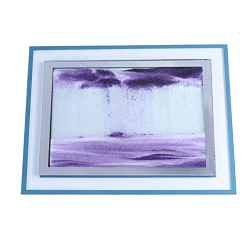 Healifty Dynamic Sand Picture Moving Desktop 3d Art Sand in Motion Office Home Decoration Toys Gift for Kid Adult (Purple)