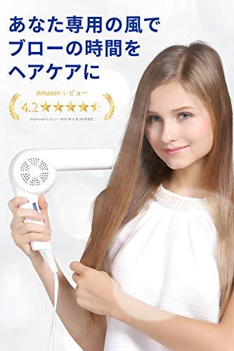 Areti(アレティ)ヘアドライヤーマイナスイオン3色LED折りたたみd1621WHドライヤー