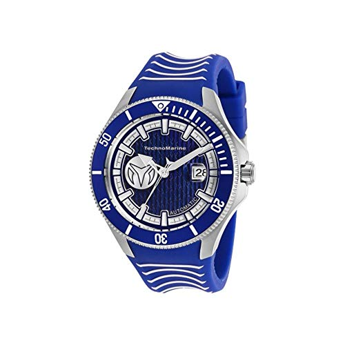 TechnoMarine Men's Cruise 47mm Blue Silicone Band Steel Case Automatic...