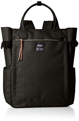 Anello backpack canvas 10 pocket 2WAY backpack AT-C1225 (Black)