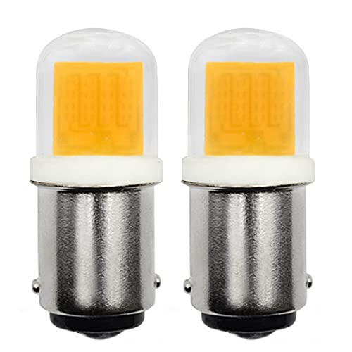 Bombilla LED B15D regulable 230 V 3 W COB, equivalente a halógeno SBC de 30 W, bayoneta pequeña para máquina de coser/lámpara de aplicaciones, luz blanca cálida 3000 K, 2 unidades [multius]