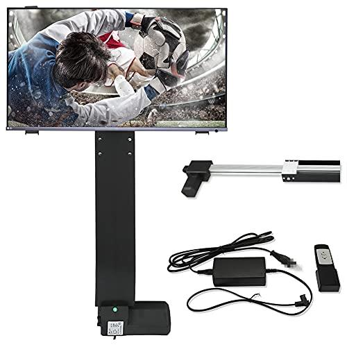 HOMIER Elevador de TV motorizado de 500 mm con soporte y controlador inalámbrico de 14 a 32 pulgadas.