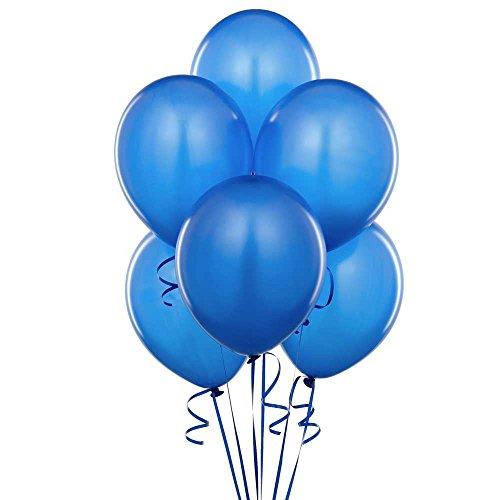 Gifts 4 All Occasions Limited SHATCHI-415 Ballons de mariage en latex Bleu moyen 63,5 x 30,5 cm