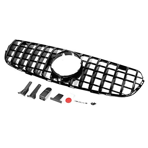 Voorniergrille, GT-stijl Front Panamericana-grillrooster Niergrillvervanging Fit voor GLC W253 X253 GLC300 GLC350 2015-2019