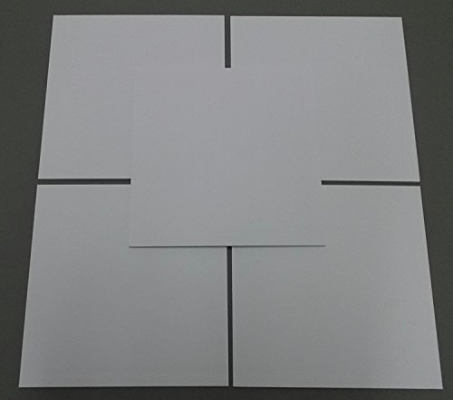 "Pack of 10 12x12 Square 1/8"" White Foam Core Backings"