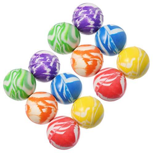 Toddmomy 50Pcs 32 Mm Pelotas Hinchables de Goma Mini Pelotas Redondas de Colores Pequeños Balones Que Rebotan Juguetes para Niños Recompensas Y Premios en El Aula Favores de La Fiesta de