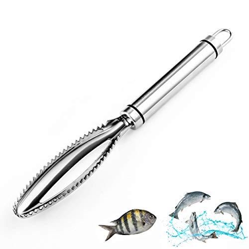 Fahibin Fischschuppen entferner, Fischschuppenschaber 304 Edelstahl, schnell Schuppen entfernen, ideales Küchenwerkzeug
