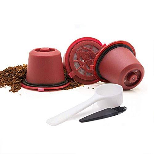 Shop-STory Nachfüllbare Kapseln für Nespresso, Rot, 6 Stück
