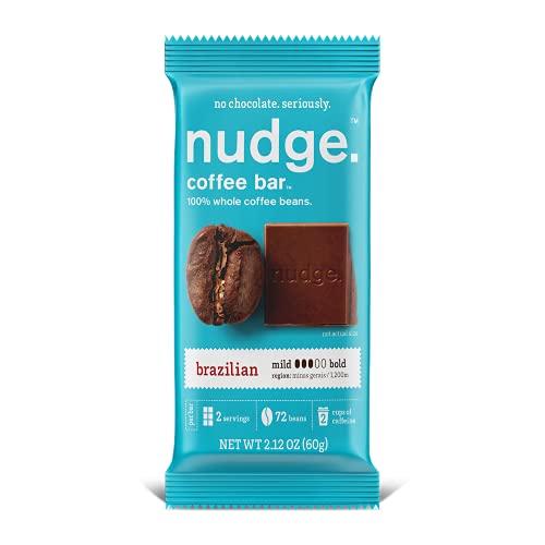 nudge.® Brazilian Coffee Bar™, No Added Sugar, Coffee Snack, 2.1oz bar, 6 Count