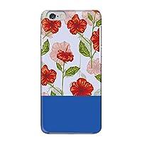 [bodenbaum] iPhone 6s Plus ハードケース Apple アップル アイフォン シックスエスプラス docomo au SoftBank SIMフリー スマホケース 赤花柄 ハイビスカス風 hard-f149 (B.ブルー)