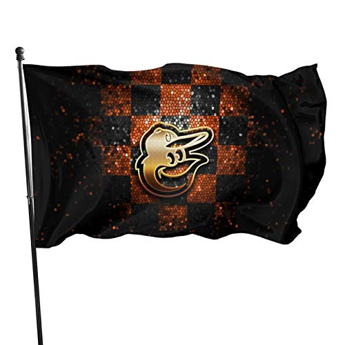 Fremont Die Baltimore-Oriole&s Flag 3x5 feet Banner Flags Decorative for Home Garden Flag Polyester Fabric UV Protected