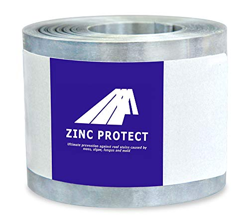 Zinc Protect - Roof Strip for Moss and Mildew Prevention, 2.5' Wide and 50' Long Zinc Strip