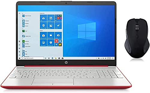 HP Portátil HD Micro-Edge de 15,6 pulgadas, Intel 4-Core Pentium Silver N5030 hasta 3,10 GHz, 16 GB RAM, 128 GB SSD, WebCam, USB-C, Ethernet, Numerpad, HDMI, Myrtix Wireless Mouse, Win 10 Home S