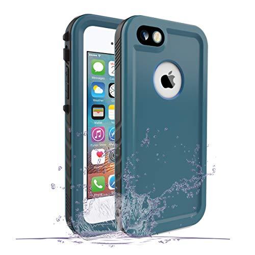 SPORTLINK wasserdichte Hülle für iPhone SE, Waterproof Case for iPhone 5s / iPhone 5, Schutzhülle Ganzkörper Unterwasser Rugged Schale Schmutzabweisend IP68 zertifizierter wasserdichter Case (Blau)