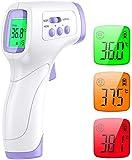 Digitales Fieberthermometer - ShoRan Kontaktlos Infrarot Thermometer Stirnthermometer gegen Fieber, 2 in 1 Medizinisches Stirn- und Thermometer