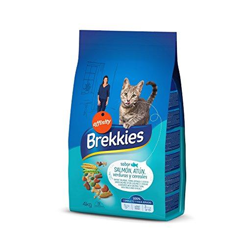 Brekkies Cibo per Gatti con Salmone, Tonno e Verdure - 4 kg - 1 Bag
