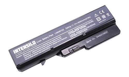 INTENSILO Batería Li-Ion 6000mAh (10.8V) para portátiles Lenovo IdeaPad G565L, G570, G570A, G570AH, G570E sustituye L09M6Y02, 21000935, 57Y6455.
