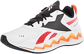 Reebok Unisex Zig Elusion Energy Cross Trainer, White/Instinctive red/high Ghvis Orange, 4.5 US Men