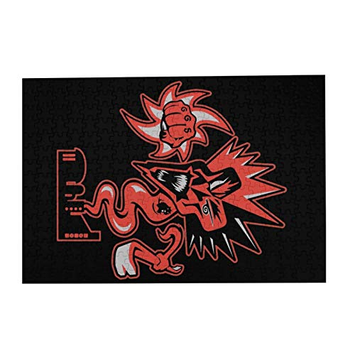 """JIECARKO Insane Clown Posse 300 Large Pieces Jigsaw Puzzle for Adults and Kids Wooden Puzzle for Decompressing Game Colorful Toys Home Decor 15.07""""x 10.23"""""""