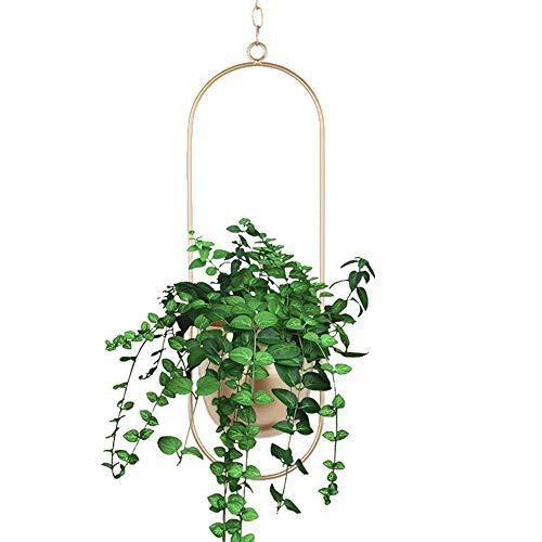 Metal Hanging Planters, Boho Modern Plant Hanger Minimalist Home Decor, Mid Century Flower Pot Plant...