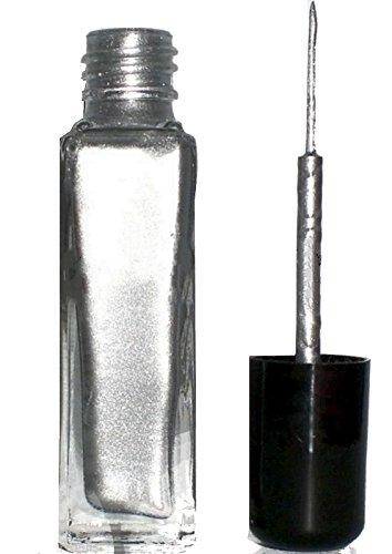 8ml Nailartliner, Fineliner Silber Metallic in Glasflasche, deckend Nails Germany
