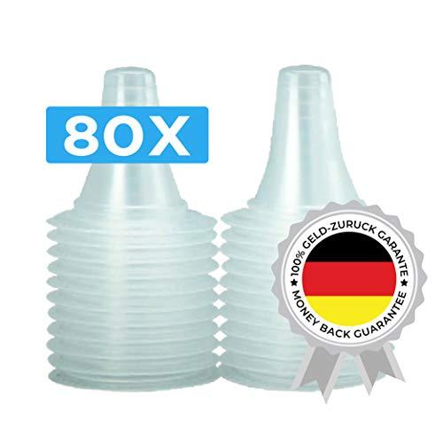80 Ersatzschutzkappen für alle Braun Thermoscan Ohrthermometer (inkl Braun Thermoscan 7) | Ohr Fieberthermometer | Ohrenthermometer