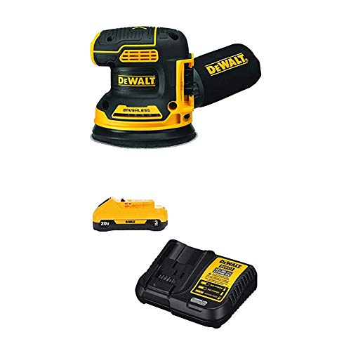 DEWALT 20V MAX Orbital Sander, Tool Only With MAX Battery Pack with Charger, 3-Ah