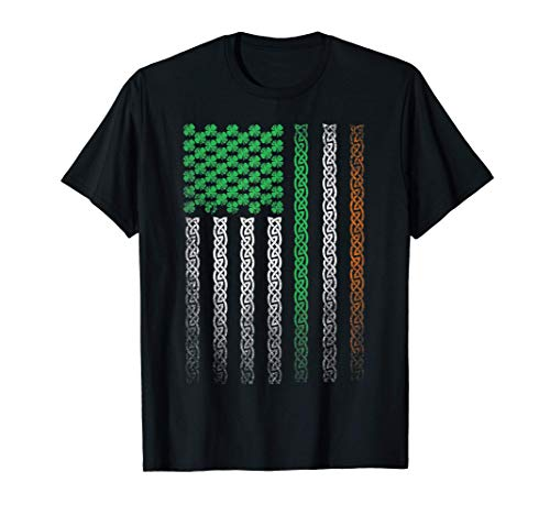 St. Patrick's Day Irish American Flag Celtic Ireland Family T-Shirt