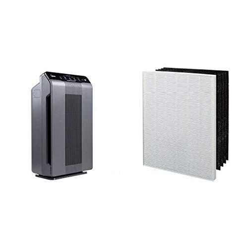 Winix 5300-2 Air Purifier with True HEPA, PlasmaWave and Odor Reducing Carbon Filter & Winix 115115 True HEPA Plus 4...