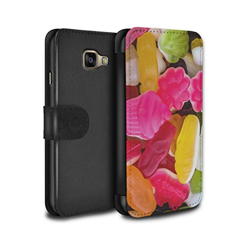 Stuff4® PU-Leder Hülle/Case/Tasche/Cover für Samsung Galaxy A3 (2016) / Marshmallow/Gelee Muster/Süßwaren Kollektion