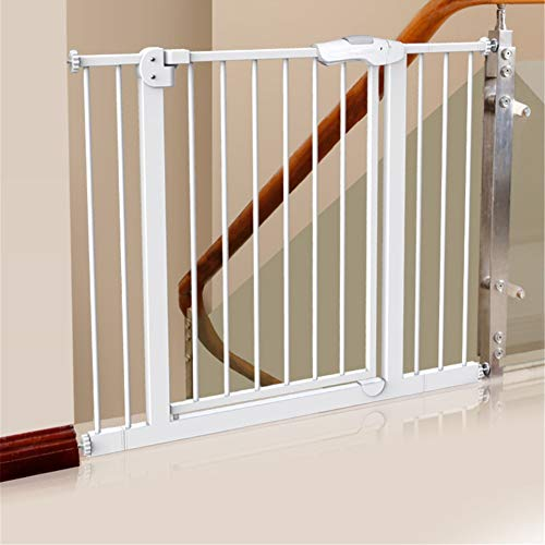 Best Price Walk Thru Baby Gate, Safety Gate Metal Expandable Baby Pet Safety Gate Auto-Close with Pr...
