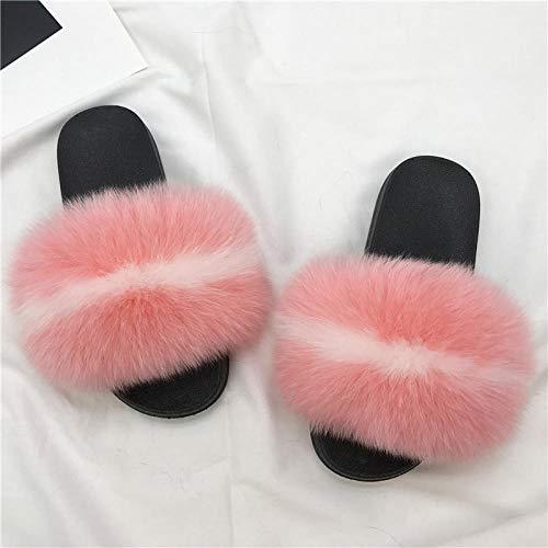 N/A Zapatillas de Alfombra para Mujer, Zapatillas de Lana de Moda de...