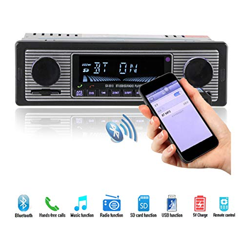 GOFORJUMP Nouveau 12V Lecteur autoradio Bluetooth Stéréo FM MP3 USB SD Audio AUX Électronique Auto Autoradio 1 DIN Autoradio