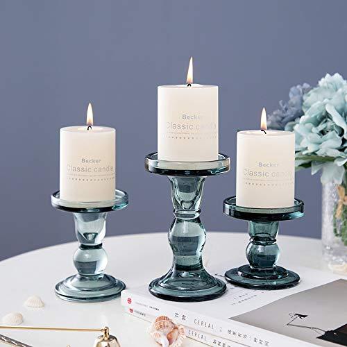 WZNING Gift Candle Glass Kandelaar Nordic Candle Western Restaurant Bar Candle Decoratie Wedding Model Room Prop Europese stijl Decoration Candle Holder (Color : 03(14 * 8.5cm))