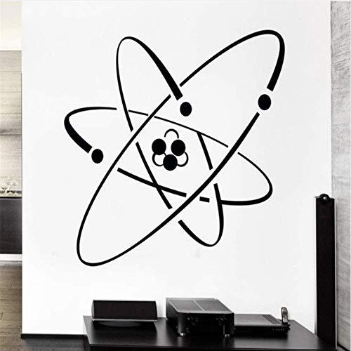 Wandaufkleber Wandtattoos Atom Electron Science Vinyl Wandaufkleber Chemie Kernphysik Dekor Wandaufkleber Kleber De Wand Wandaufkleber 57 * 78Cm