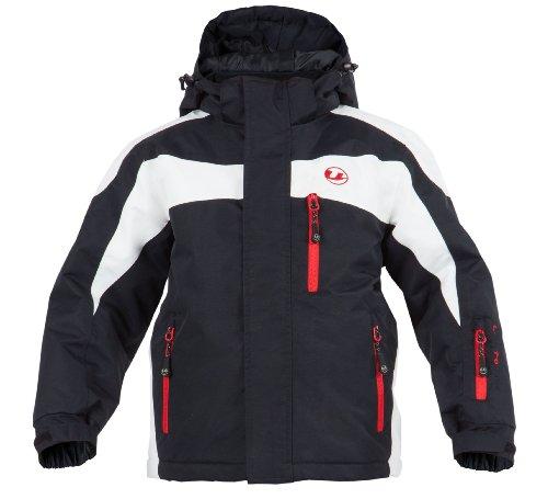 Ultrasport Kinder Ski Jacke Zürs, Weiß/Schwarz/Rot, 170/176, 10369