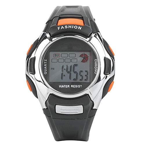 Zer one Reloj Impermeable para niños Resistente al Desgaste Reloj Multifuncional Luminoso Niños Chicas Reloj Digital Dos Colores Negro Rosa(Negro)
