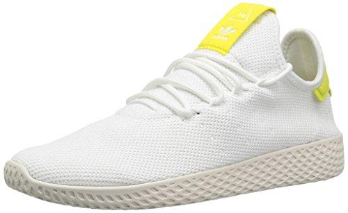 adidas Originals Men's Pharrell Williams Tennis HU Running Shoe, White/White/Chalk White, 14 M US