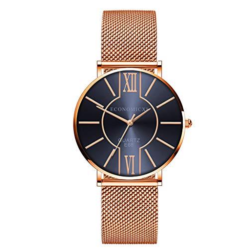 Neuer Trend Armbanduhr Uhren Damen Analog Quarz, LEEDY Frauen mit Edelstahl Armband Minimalistisch Modisch Uhren Elegant Klassisch Ultradünne Damenuhr