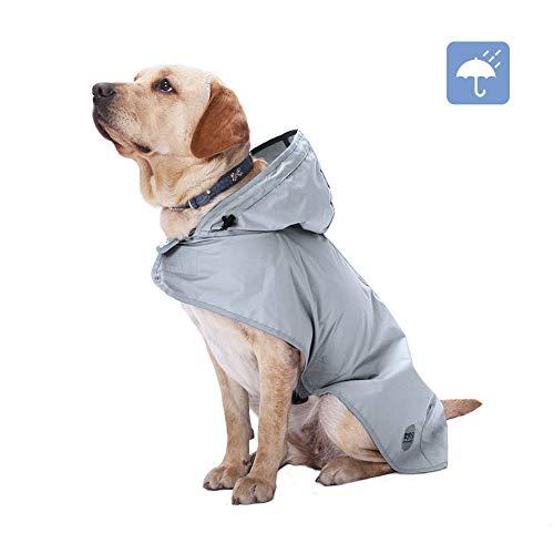 XIAPIA Regenjas voor Honden, XXL, Grijs