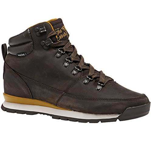 North Face Back to Berkeley Redux Leather Boots 40.5 EU Chocolate BRWN/goldn BRWN